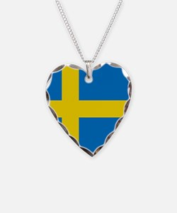Square Swedish Flag Necklace
