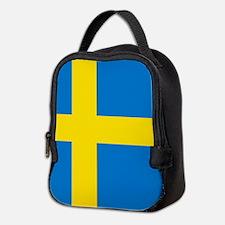Square Swedish Flag Neoprene Lunch Bag