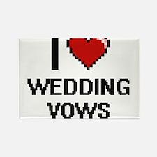 I love Wedding Vows digital design Magnets