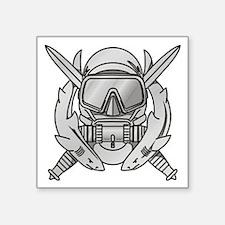 "Cute Combat diver Square Sticker 3"" x 3"""