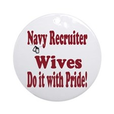 navy recruiter wife Ornament (Round)
