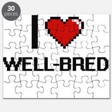 I love Well-Bred digital design Puzzle