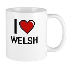 I love Welsh digital design Mugs