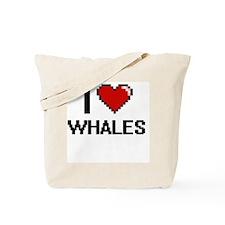 I love Whales digital design Tote Bag