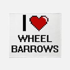 I love Wheel Barrows digital design Throw Blanket