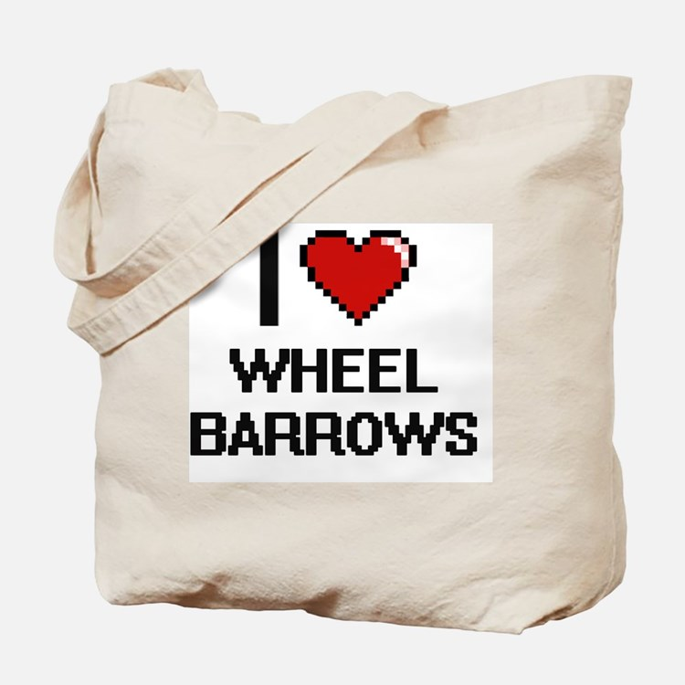 I love Wheel Barrows digital design Tote Bag