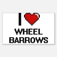 I love Wheel Barrows digital design Decal