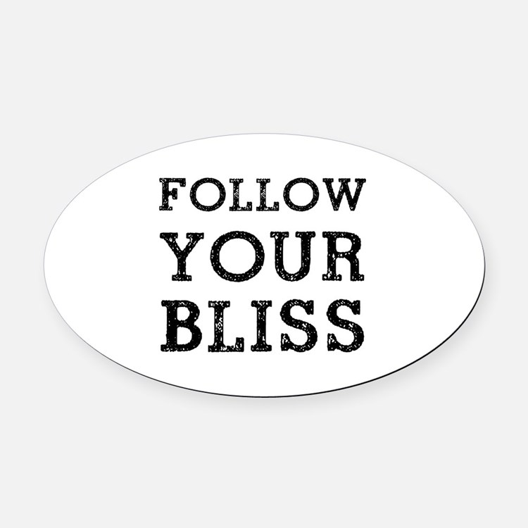 Follow Bliss Oval Car Magnet