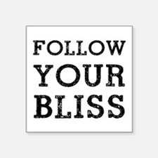 "Follow Bliss Square Sticker 3"" x 3"""