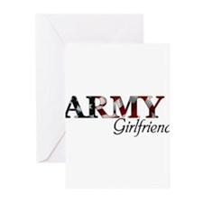 Girlfriend Army_flag Greeting Cards