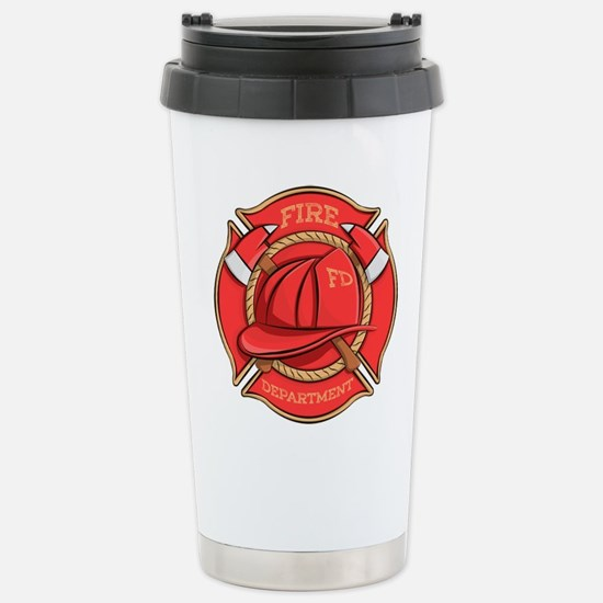 Firefighter Badge Travel Mug
