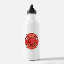 Firefighter Badge Water Bottle