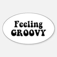 Feeling Groovy Sticker (Oval)