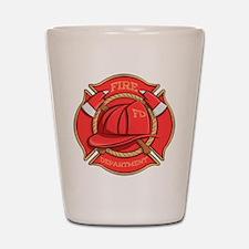 Firefighter Badge Shot Glass