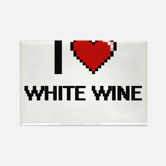 I love White Wine digital design Magnets