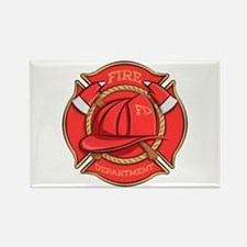 Firefighter Badge Rectangle Magnets