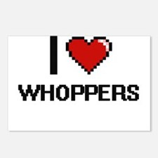 I love Whoppers digital d Postcards (Package of 8)