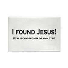Found Jesus Rectangle Magnet