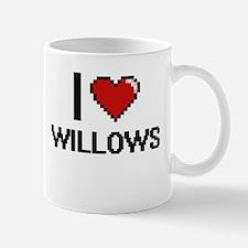 I love Willows digital design Mugs