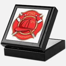 Firefighter Badge Keepsake Box