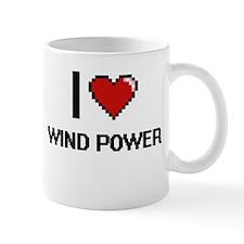 I love Wind Power digital design Mugs