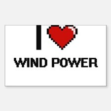 I love Wind Power digital design Decal