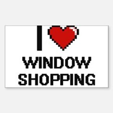 I love Window Shopping digital design Decal
