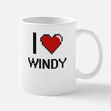 I love Windy digital design Mugs