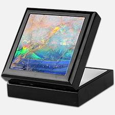 opal gemstone iridescent mineral blin Keepsake Box
