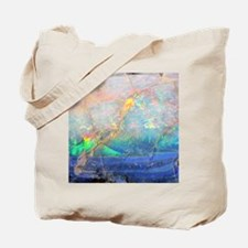 opal gemstone iridescent mineral bling bo Tote Bag
