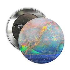 """opal gemstone iridescent mineral blin 2.25"""" Button"""