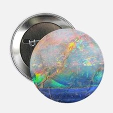 "opal gemstone iridescent mineral blin 2.25"" Button"