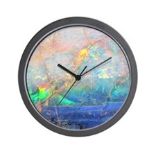 opal gemstone iridescent mineral bling  Wall Clock