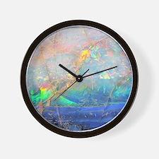opal gemstone iridescent mineral bling  Wall Clock