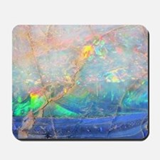 opal gemstone iridescent mineral bling b Mousepad