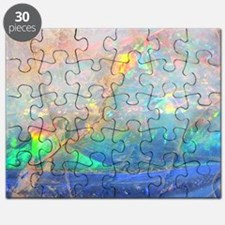 opal gemstone iridescent mineral bling boke Puzzle