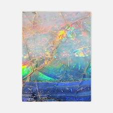 opal gemstone iridescent mineral bling  Twin Duvet