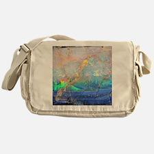 opal gemstone iridescent mineral bli Messenger Bag
