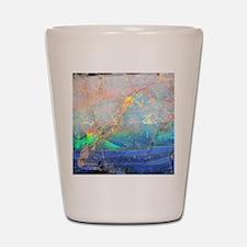 opal gemstone iridescent mineral bling  Shot Glass