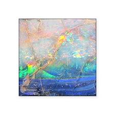 "opal gemstone iridescent mi Square Sticker 3"" x 3"""