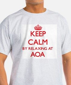 Keep calm by relaxing at Aoa Samoa T-Shirt