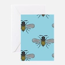 antique bees Greeting Cards