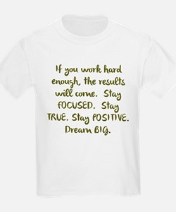 Eye On The Prize Dream BIG Design T-Shirt