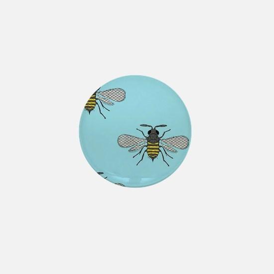 antique bees Mini Button
