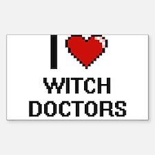 I love Witch Doctors digital design Decal