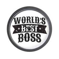 World's Best Boss Wall Clock