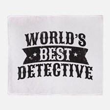 World's Best Detective Throw Blanket