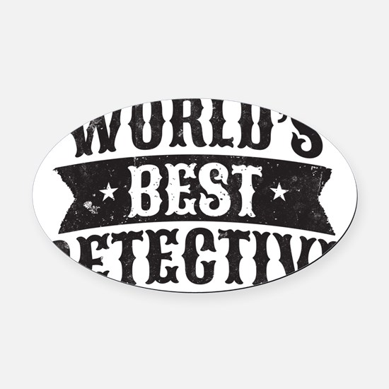 World's Best Detective Oval Car Magnet