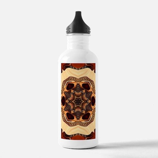 burgundy gold floral m Water Bottle