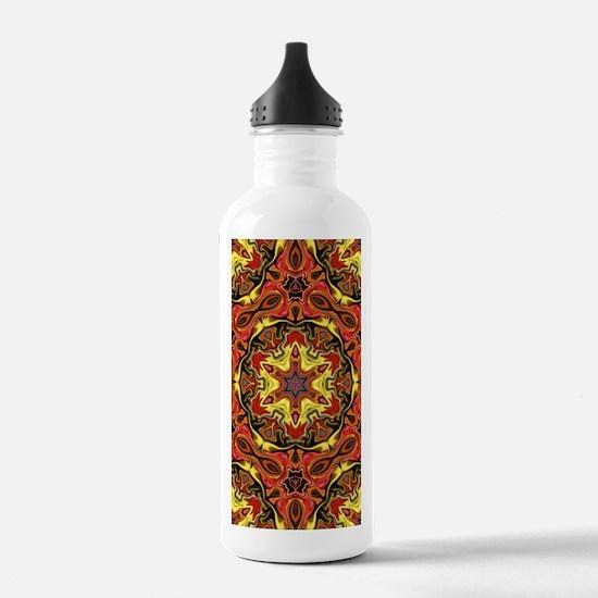 yellow orange yoga man Water Bottle